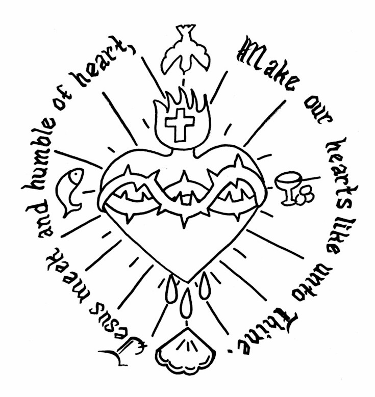 Free coloring pages of the sacred heart of jesus for Sacred heart of jesus coloring page